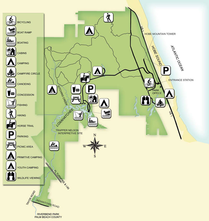 Jonathan Dickinson State Park Trail Map Hike It Florida